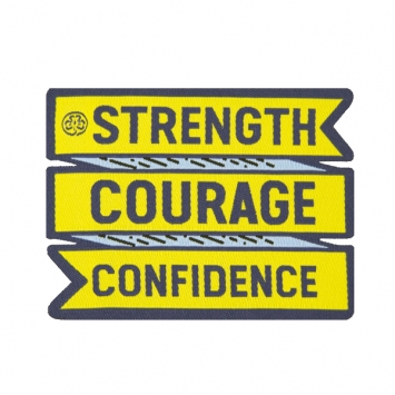 Strength-Courage-Confidence badge