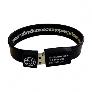 Stop the Violence USB wristband - 256 meg capacity