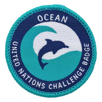 Ocean - UN Challenge badge (Pack of 10) with free book